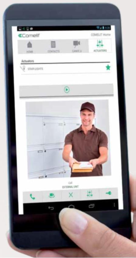 La aplicación Comelit VIP remote, permite controlar el vídeoportero desde tu smartphone o tablet. Y se puede descargar gratuitamente en App Store o Google Play.